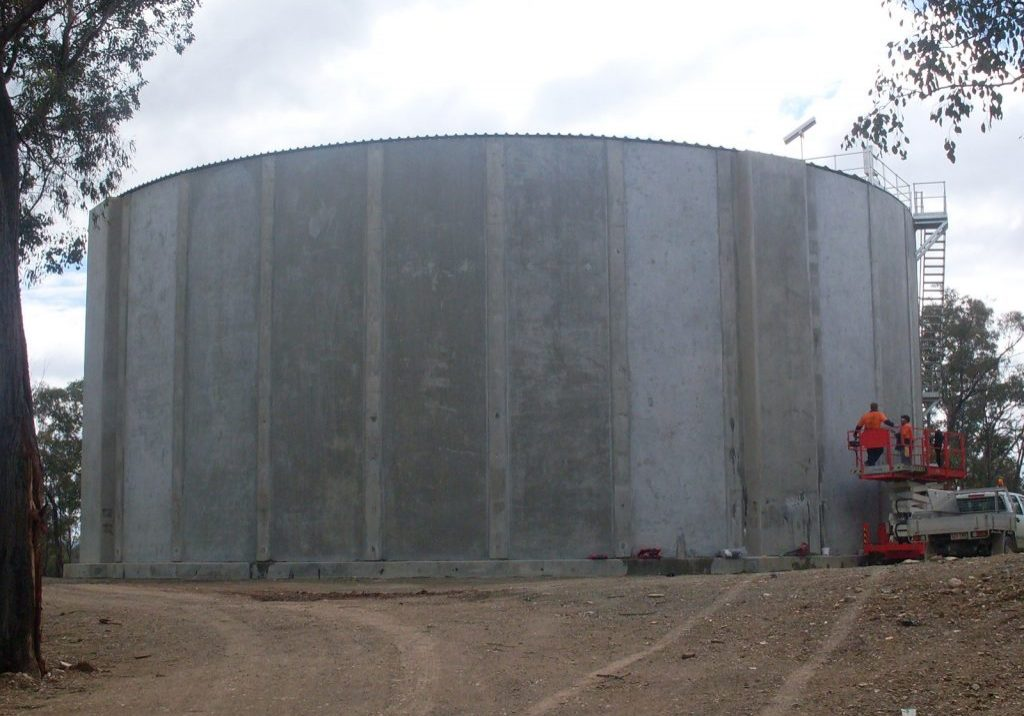 steel aluminium fabrication safety remedial civil concrete reservoir advanced concrete engineering post tension tank prestress slab desal desalination tumut